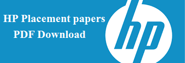 HP Placement papers and solutions PDF