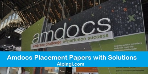 AMDOCS Placement Papers question answer