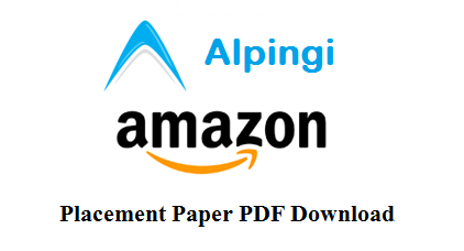 Amazon placement paper pdf download solution