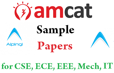 AMCAT Sample Question Paper