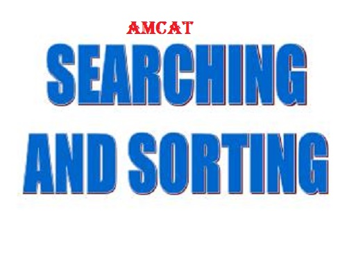 AMCAT Searching and Sorting Questions