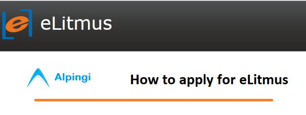 How to apply for eLitmus Test